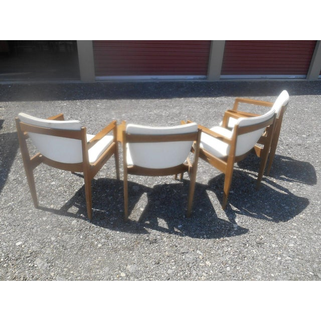 Vintage 1960's Thonet Mid-Century Modern Maple Dining / Side Chairs-Set of 4 For Sale - Image 6 of 10