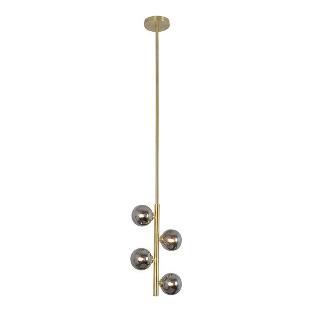 Jessamine Satin Brass Ceiling Pendant For Sale