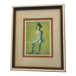 1990s Picasso Blue Period Young Boy Framed Print For Sale