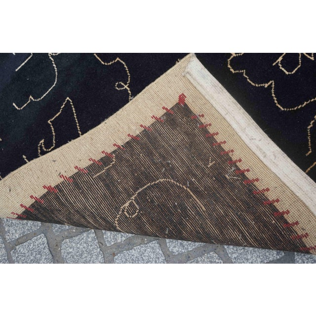 Textile Boccara Limited Edition Artistic Wool Rug Homage to Jean Cocteau 'Black' For Sale - Image 7 of 8