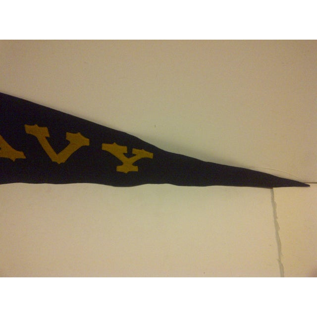 Vintage United States Naval Academy Pennant Circa 1940 For Sale - Image 5 of 7