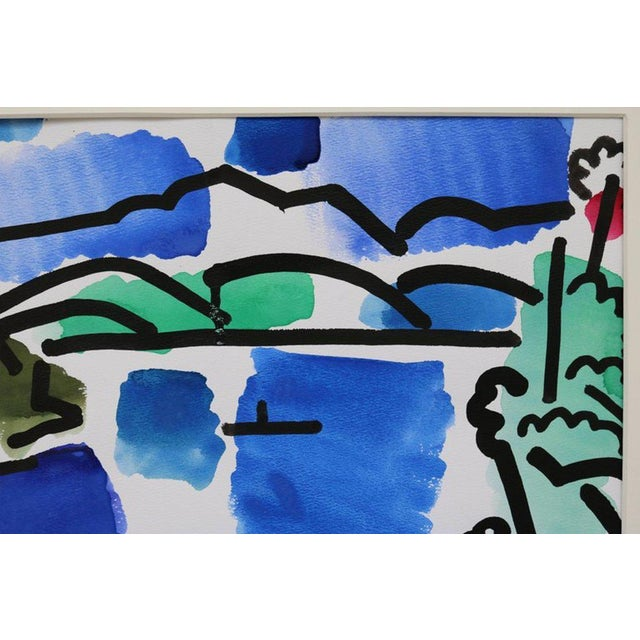 Mid-Century Modern Landscape Watercolor by James McCray #10 For Sale - Image 3 of 8