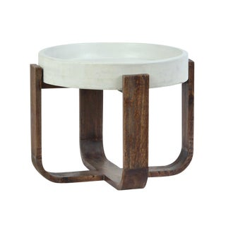 Cement Top Modern Side Table For Sale