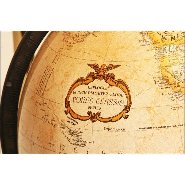 Mid-Century Modern Replogle World Globe W Brass Stand - Image 11 of 11