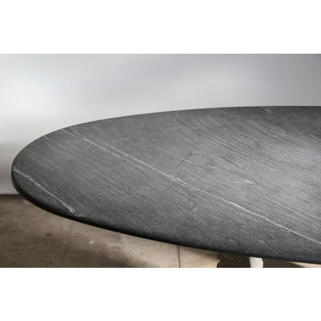 1970s Mario Bellini Style Italian Slate Dining Table For Sale - Image 10 of 13