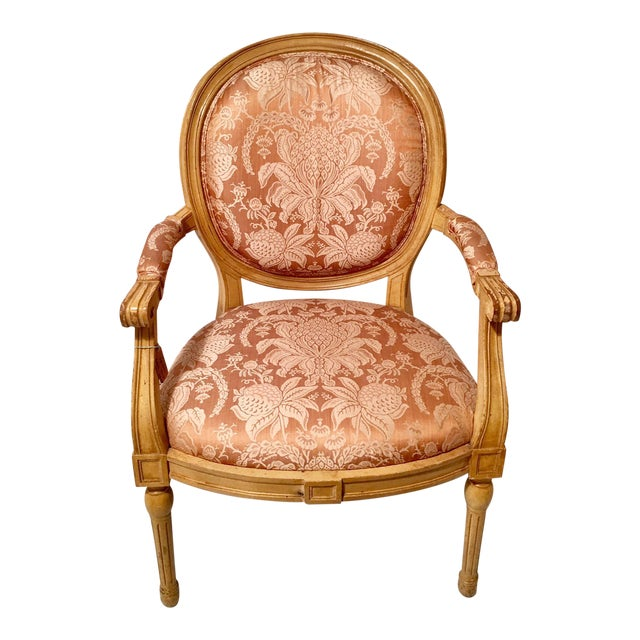 French Louis XVI Style Fauteuils Chair For Sale