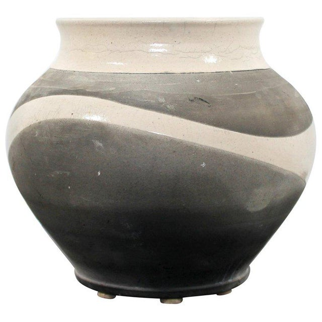 Contemporary Robert Kidd Signed Dated Raku Ceramic Pottery, 1986 For Sale - Image 9 of 9