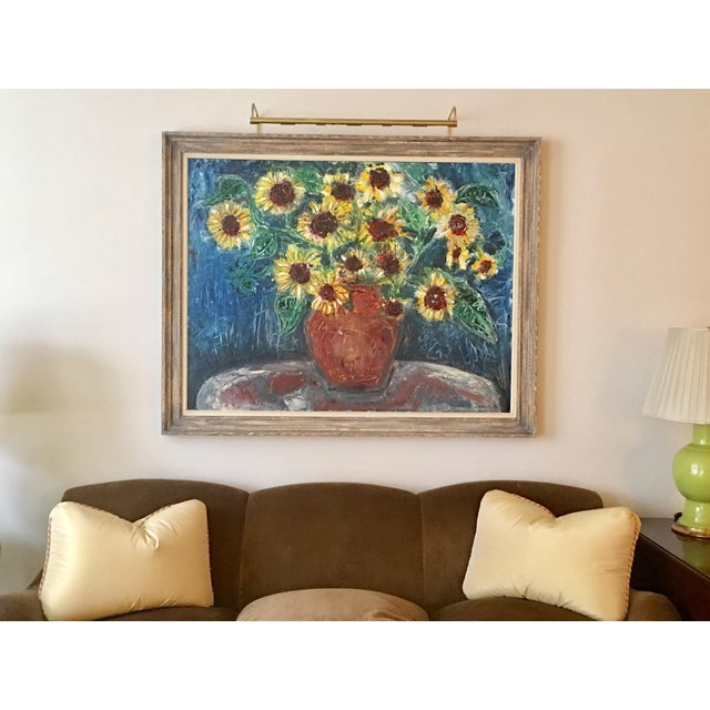 "Large ""Sunflower"" Painting by Trieste - Image 6 of 6"