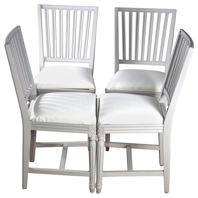 Late 19th Century Swedish Gustavian Dining Chairs- Set of 4 For Sale In San Francisco - Image 6 of 6