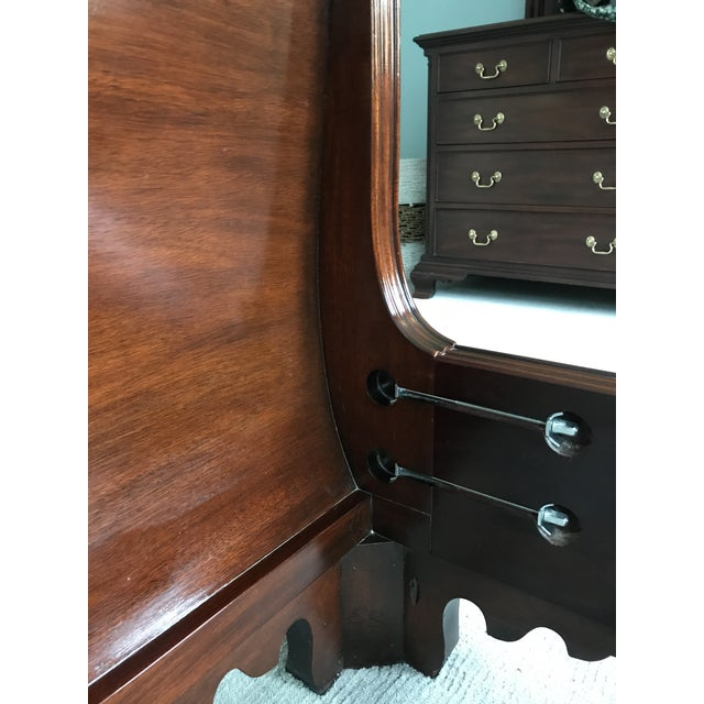 Chippendale Chippendale Henkel Harris Mahogany King Sleigh Bed For Sale - Image 3 of 13