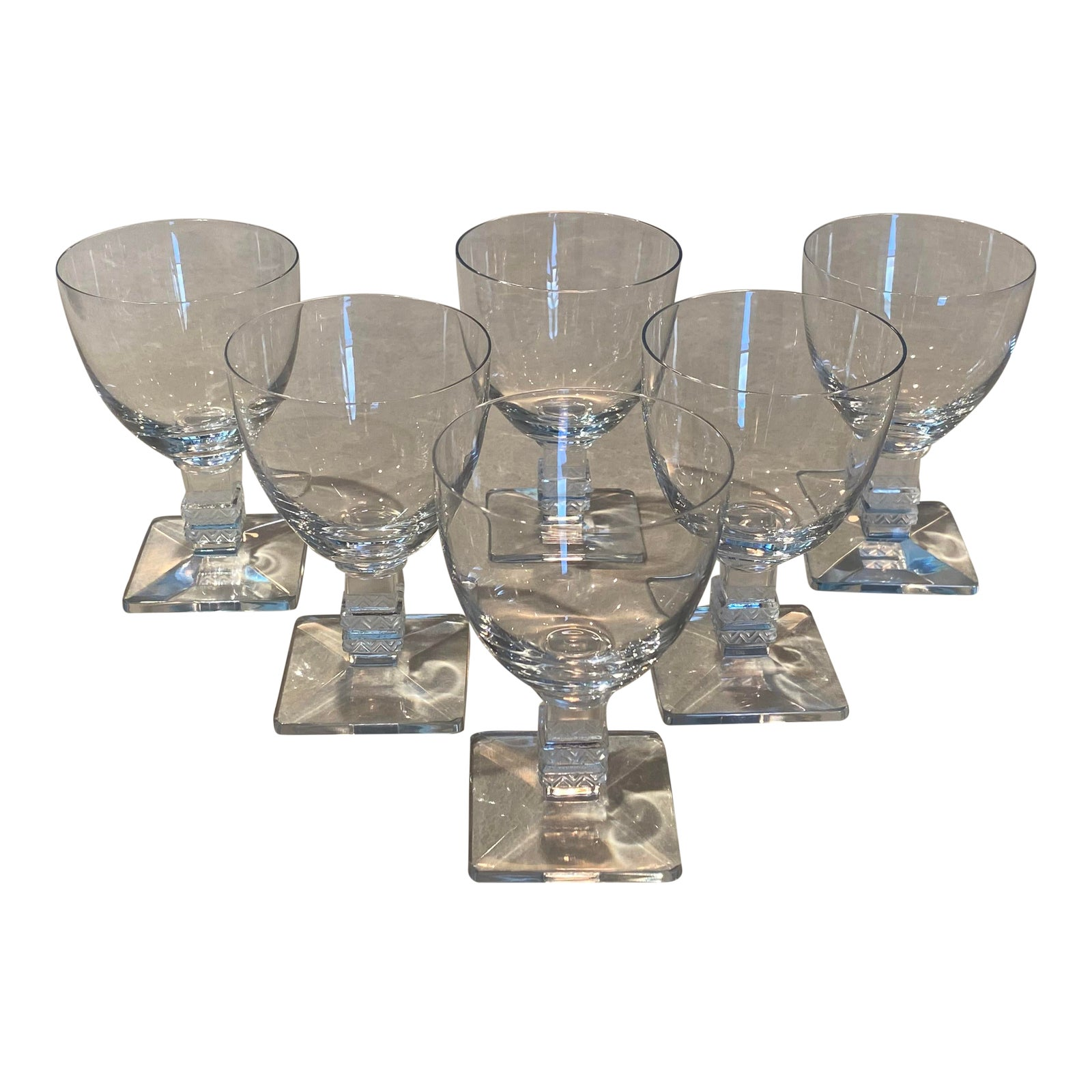 Lalique Argos Wine Glasses - Set of 6   Chairish