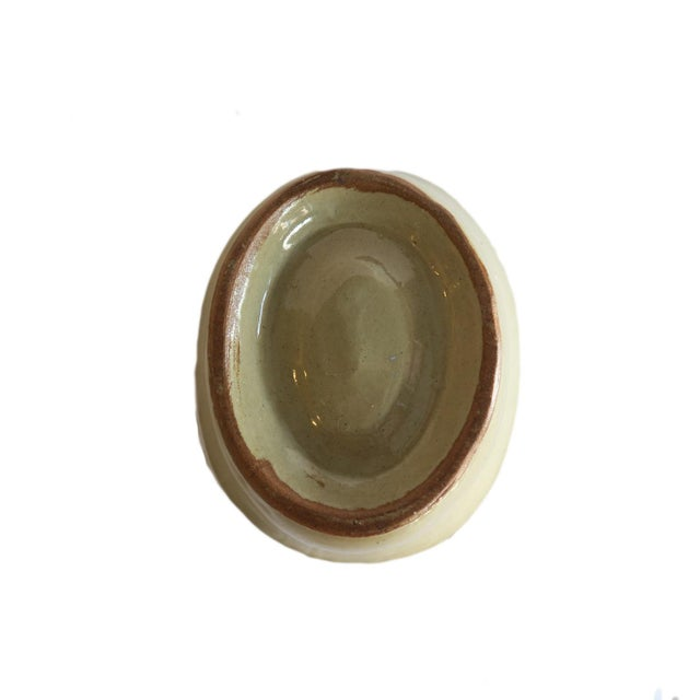 Antique Tan Stoneware Pudding Jello Kitchen Mold For Sale - Image 4 of 5