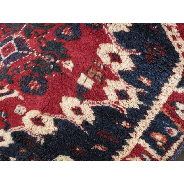 Blue Antique Bergama Rug For Sale - Image 8 of 9