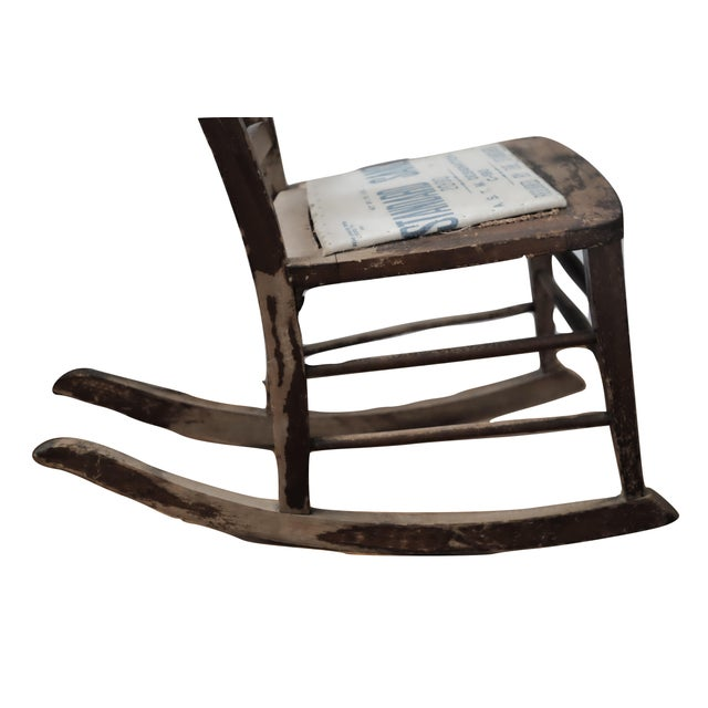 Antique Sewing Nursing Rocking Chair - Image 7 of 8 - Antique Sewing Nursing Rocking Chair Chairish