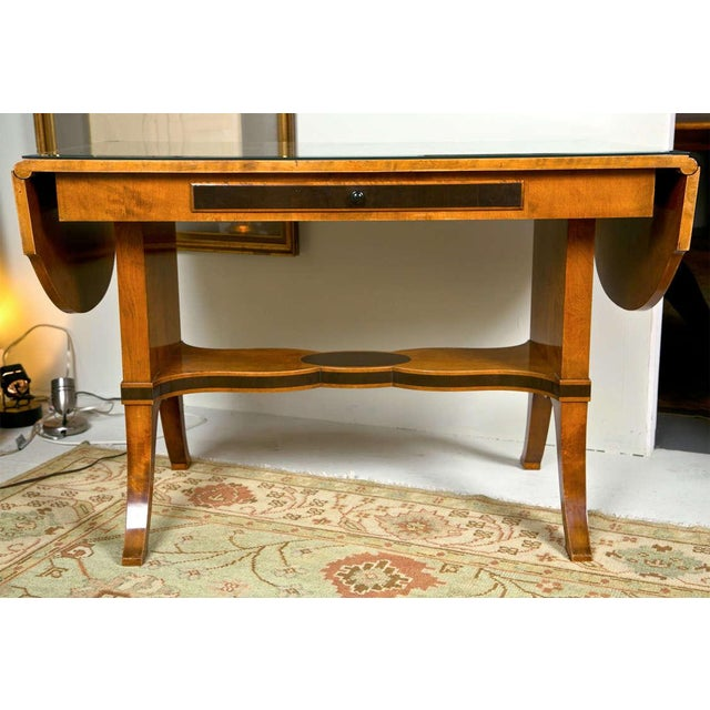 Art Nouveau Satinwood Sofa Table For Sale - Image 10 of 10