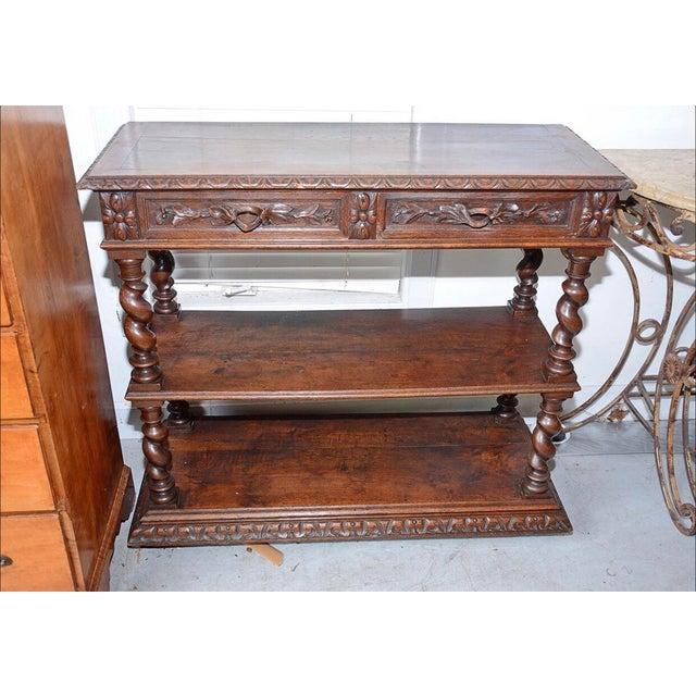 Marvelous Antique 19Th Century Jacobean Console Buffet Table Ibusinesslaw Wood Chair Design Ideas Ibusinesslaworg