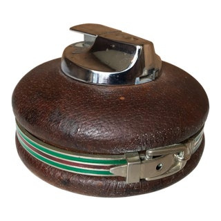 72a666d374bd 1980s Vintage Gucci Spherical Leather Lighter For Sale