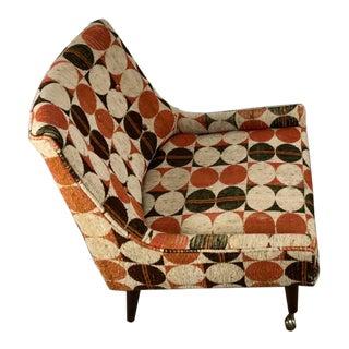Modernist Slipper Chair in the Manner of Harvey Probber Larsen Fabric For Sale