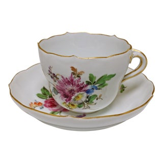 Meissen Coffee Cup & Saucer For Sale