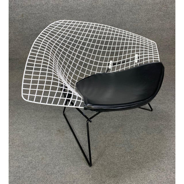 Knoll Vintage Mid Century Modern Large Diamond Chair by Harry Bertoia for Knoll For Sale - Image 4 of 11