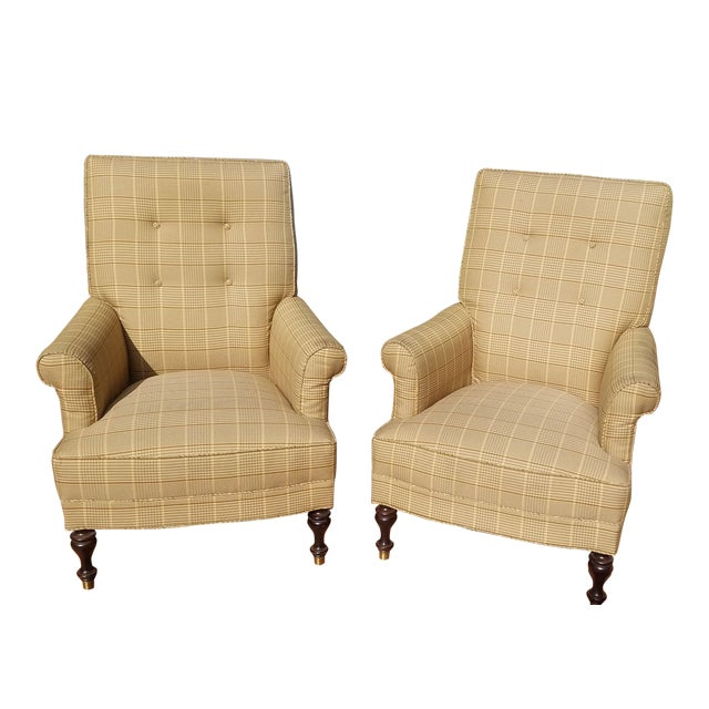 Traditional Club Chairs by Mitchel Gold - a Pair For Sale