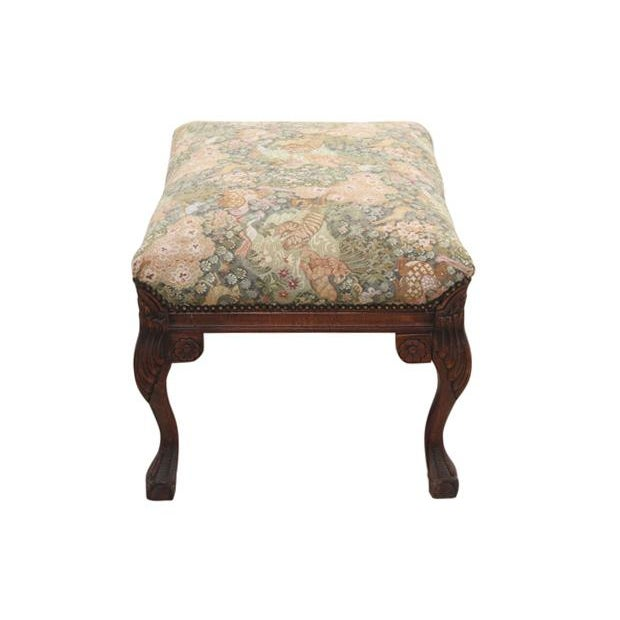 Louis XV Style Jungle Fauteuil and Ottoman - Image 9 of 9