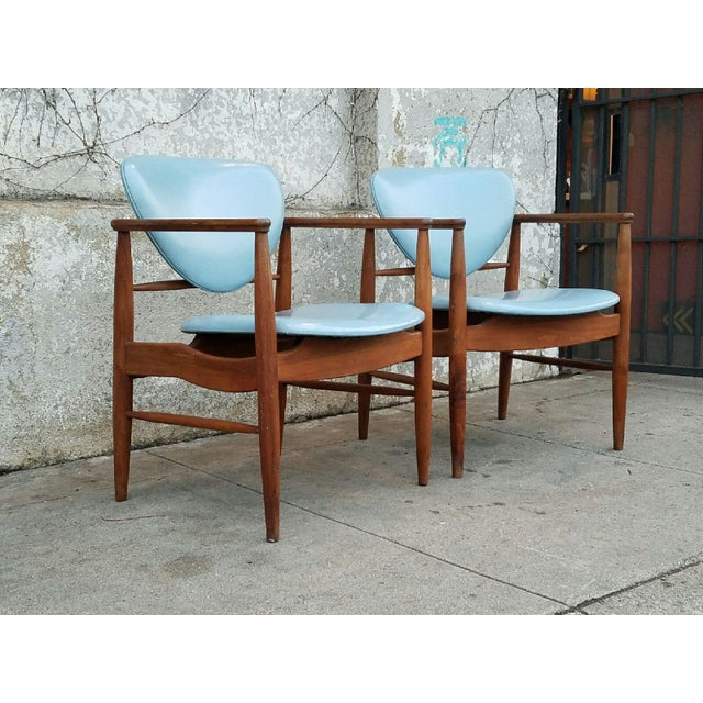 Mount Airy Finn Juhl-Style Vintage Chairs - A Pair - Image 3 of 7