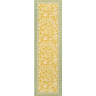 "Madcap Cottage Under a Loggia Rokeby Road Yellow Indoor/Outdoor Area Rug 2'3"" X 8' Runner For Sale"