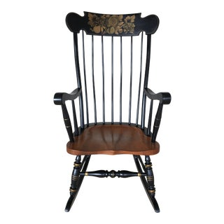 Ethan Allen Litchfeild Edition Stenciled Boston Style Rocking Chair For Sale