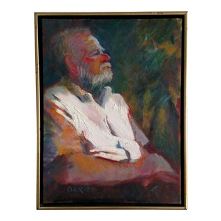 20th Century Signed Oil on Canvas Portrait For Sale