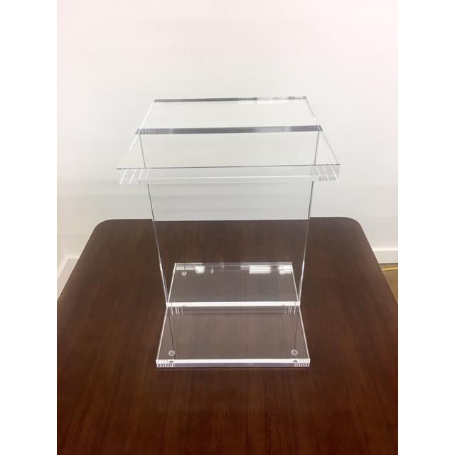 Modern Gus Acrylic I-Beam Drink/ End Table For Sale - Image 4 of 4
