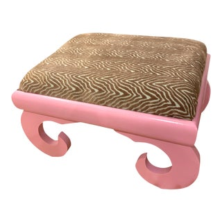 Early 20th Century Lacquered Footstool For Sale