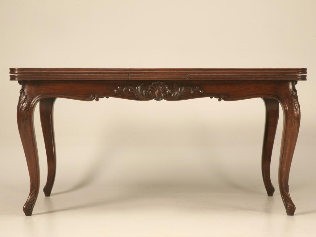 Spectacular Antique Italian Louis XV Oak U0026 Walnut Draw Leaf Table