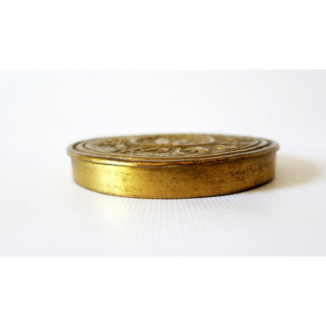 Mid 20th Century French Sculptured Gilt Bronze Box by Line Vautrin For Sale - Image 5 of 9