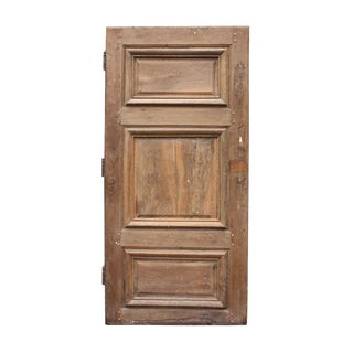 1800 Rustic Walnut French Door For Sale