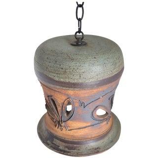 Vintage Hand Thrown Ceramic Pendant Light