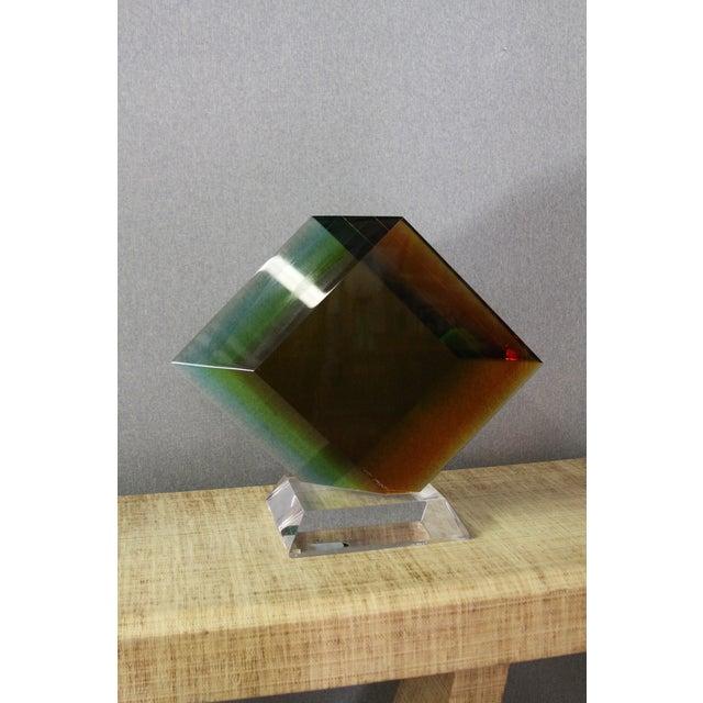 Haziza Acrylic Colorful Geometric Sculpture - Image 2 of 9