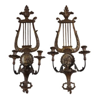 20th Century Italian Candle Sconces - a Pair For Sale