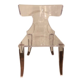 1980s Vintage Lucite Klismo Chair For Sale