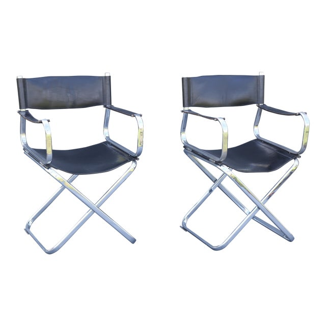 Arrben Italian Leather & Chrome Chairs - A Pair - Image 1 of 10