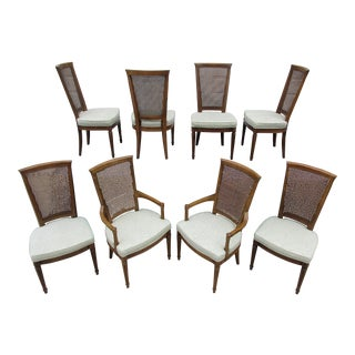 Vintage Mid Century Henredon Dining Chairs -Set of 8 For Sale