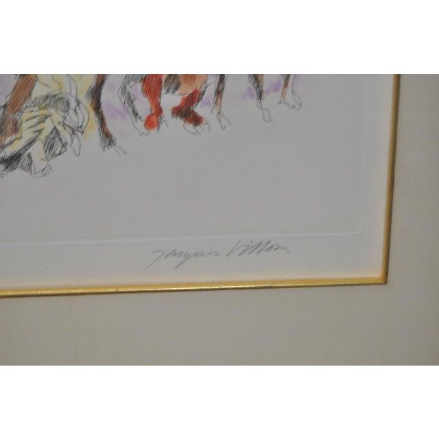 C. 1961 Jacques Villon Original Color Aquatint For Sale - Image 5 of 9