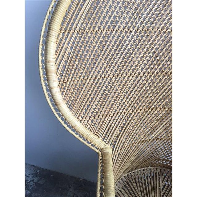 1970s Light Colored Peacock Chair - Image 5 of 6