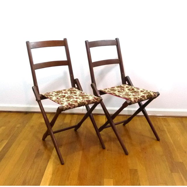 Antique BJ Harrison Folding Deck Chairs - A Pair - Image 2 of 6 - Antique BJ Harrison Folding Deck Chairs - A Pair Chairish