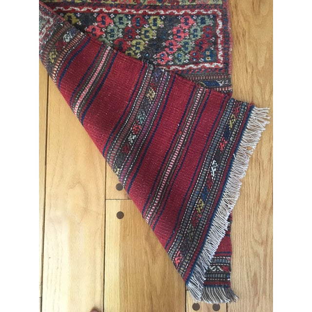 Early 20th Century Early 20th Century Vintage Kurdish Bag Face Rug - 2′1″ × 4′9″ For Sale - Image 5 of 8