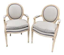 Image of White Bergere Chairs