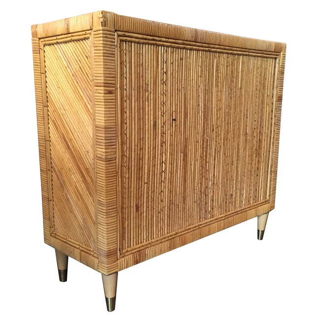 Vintage Split Bamboo Cabinet - Image 2 of 3