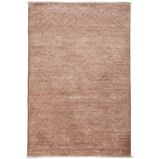 """Moroccan, Hand Knotted Area Rug - 3' 10"""" x 5' 10"""" For Sale"""