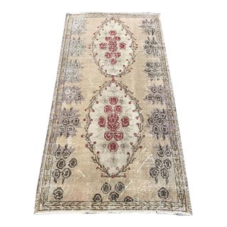 Floral Turkish Carpet - 2′11″ × 5′9″ For Sale