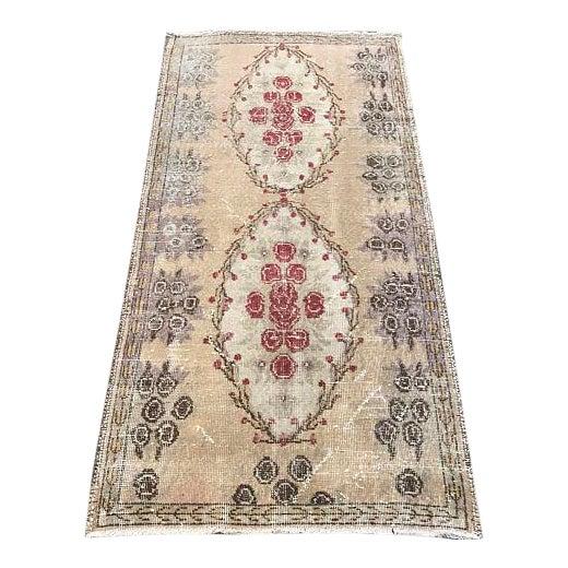 Floral Turkish Carpet - 2′11″ × 5′9″ For Sale